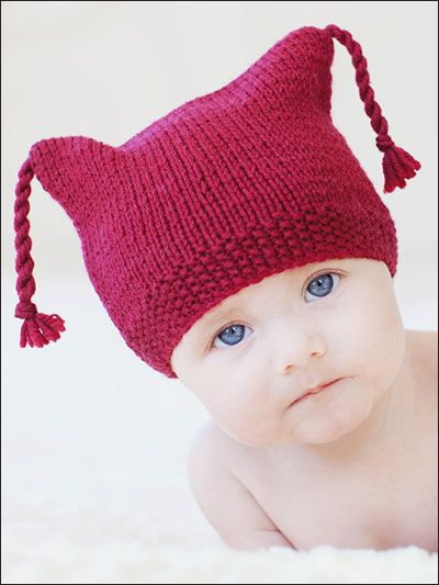 Knitting Pattern For Baby Hat And Scarf : Tassels, Knitting patterns and Children on Pinterest
