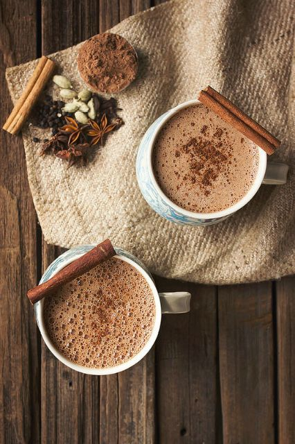 8 Delicious Hot Chocolates You Must Make This Winter #refinery29  http://www.refinery29.com/best-hot-chocolate-recipes#slide-1  Chai Hot ChocolateMake your wintry beverage even more delicious by combining the two ultimate comforting hot drinks — chai and hot chocolate....