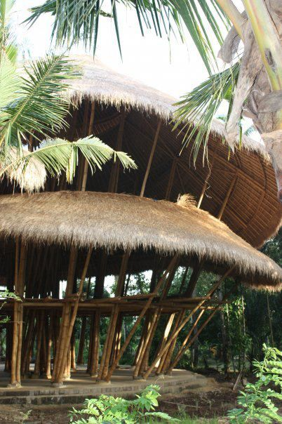 Green School, Ubud Bali, Indonesia . No nails involved in the construction of this building The materials used are bamboo.: