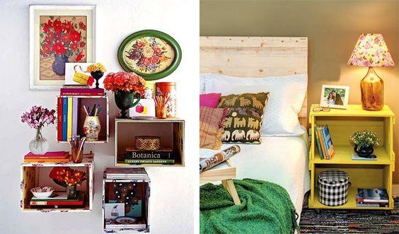 Ideas para a sala e quatro. decoracao com caixote