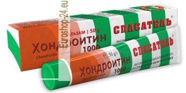 Balsam Chondroitin, 50g  Chondroitin Sulfate Kosmetischer Massagebalsam für den ganzen Körper.  Anwendung: den Balsam auf die gereinigte Haut auftragen und mit intensiven Bewegungen einmassieren.   Aufbewahren: bei Temperaturen 2-25 ° C.