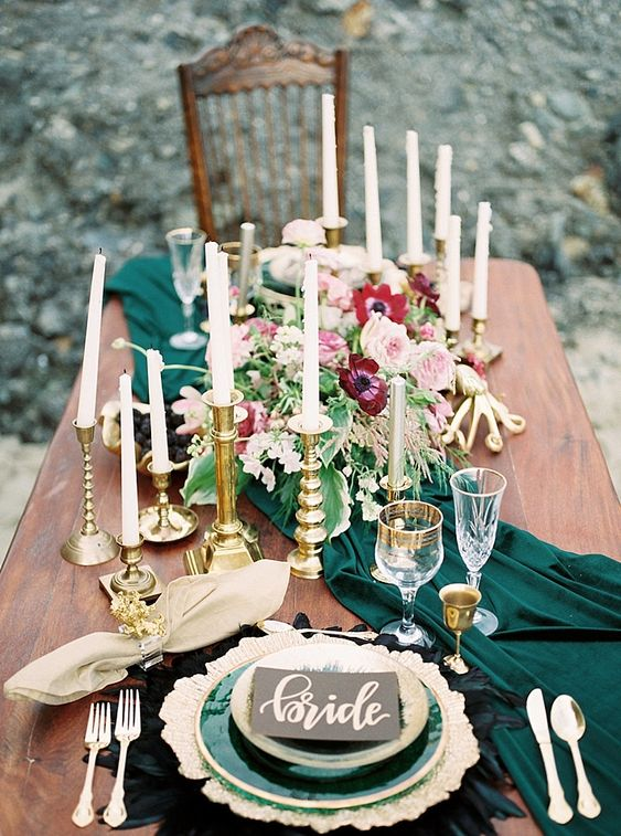 fall wedding palette - Pantone Color of The Year Wedding Ideas on The Beach in Greenery by Debby Boh Events