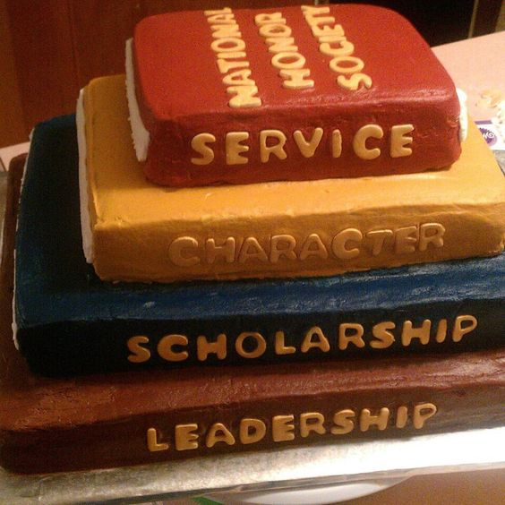 National Honor Society Induction cake. A parent said she actually thought it was a stack of books at first glance.