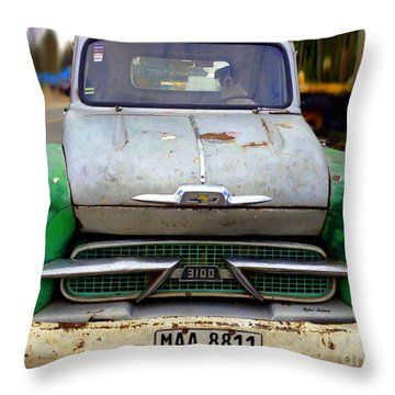 Dog Driven Throw Pillow by Rafael Salazar