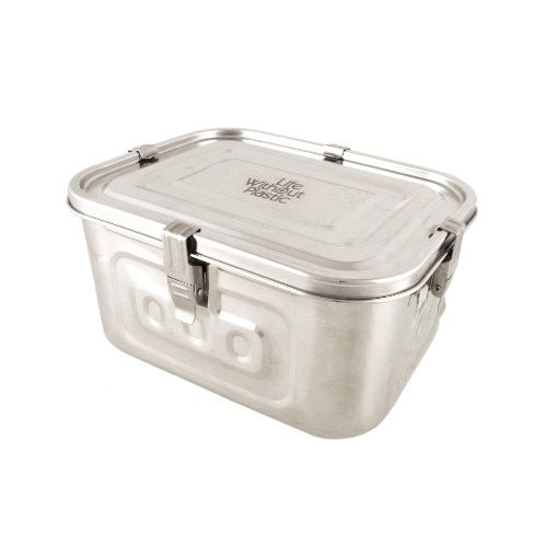 Large Stainless Steel Airtight Rectangular Freezer Storage Container 4 L 1 Gal Stainless Steel Food Storage Freezer Storage Containers Stainless Steel Containers