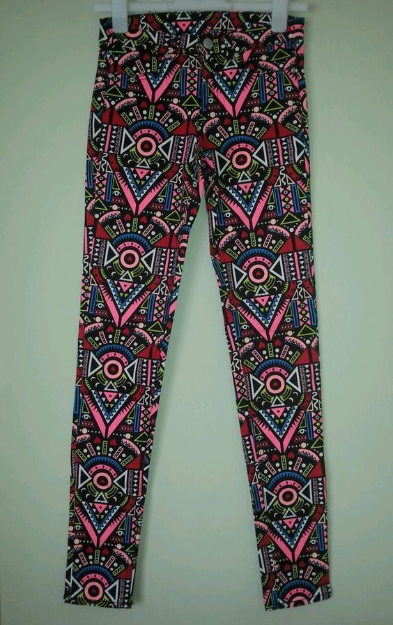 Ladies / Girls Multi Colour Pattern Jeans Trousers Size 8 H&M ' in Clothes, Shoes & Accessories, Women's Clothing, Jeans | eBay
