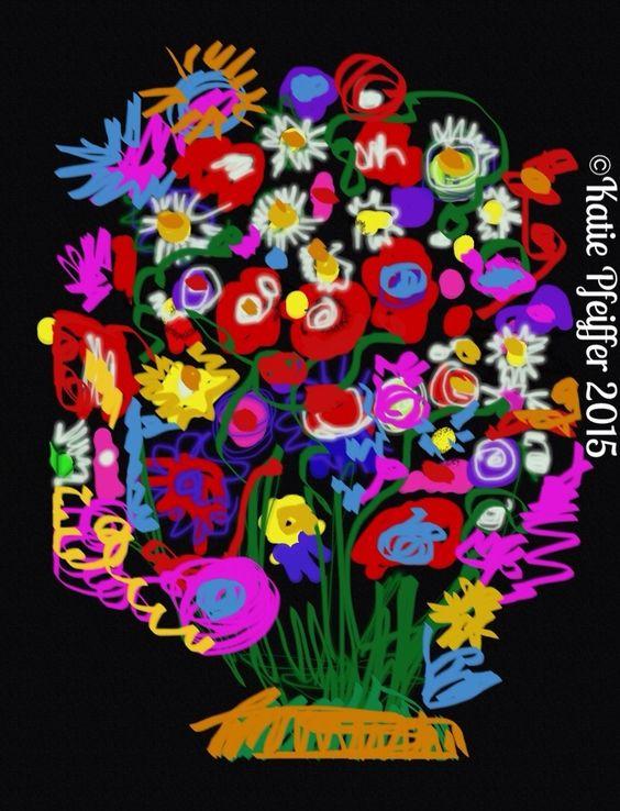 """""""Flower Bouquet"""" original digital drawing"""