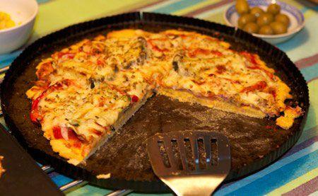 Receta para diabéticos: Pizza con harina de garbanzos   Curar Diabetes