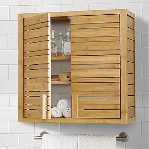 Bamboo Wall Cabinet Bathroom Mount Storage Cupboard Organizer 2 Door Decor New Bathroomcabinetwallmou Wall Mounted Bathroom Cabinets Bamboo Wall Wall Cabinet