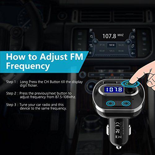 Victsing V4.1 Bluetooth FM Transmitter Car Wireless Radio Transmitter Adapter