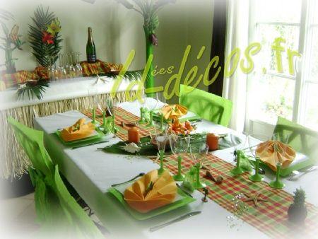 pour cette table de mariage antillais un chemin de table rouge jaune et des couleurs - Chemin De Table Color