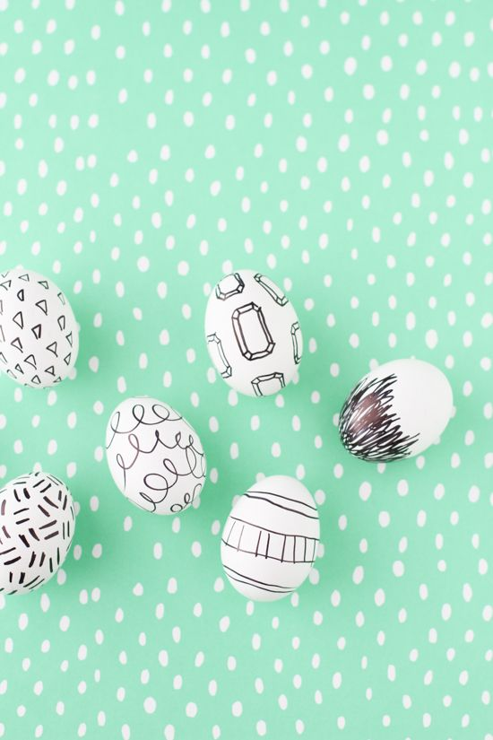 Easter Egg Project // Marker Drawings + Doodles