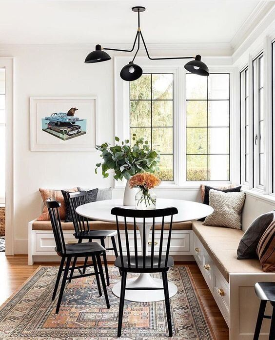 Designer Notes A Touch Of Black Dining Nook Home Dining Room Updates