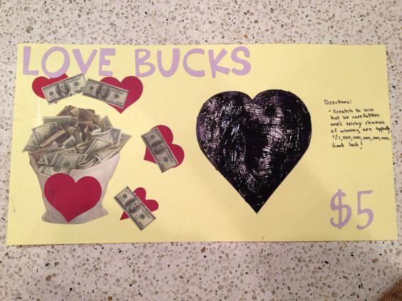 Valentine lotto scratch ticket