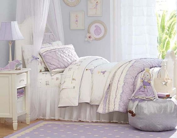 7 Inspiring Kid Room Color Options For Your Little Ones: I Love The Pottery Barn Kids Ruby Ballerina Bedroom On