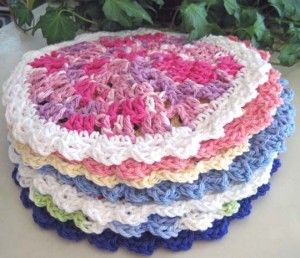 Wedgy Edgy Dishcloth, Designs by KN