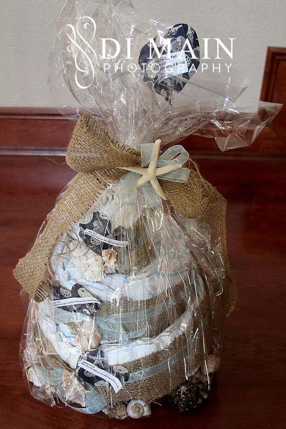 Baby Shower -Diaper Cake idea Photo by - Di Main Photography in So Cal www.facebook.com/di.main.photo