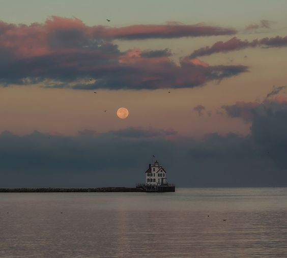 "500px / Photo ""moonset"" by thom polimeros"