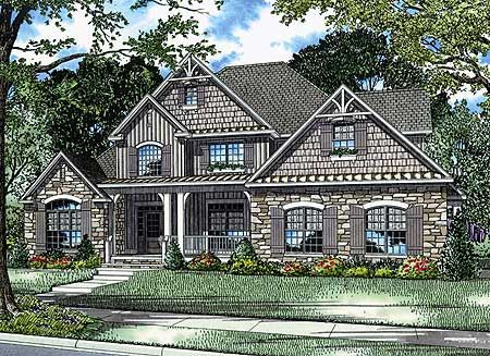 Looks like the perfect house plan for me. Cedar shingles, unique, I love the kitchen layout, and the rest of the house.