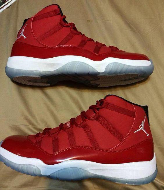 air jordan 11 red and white