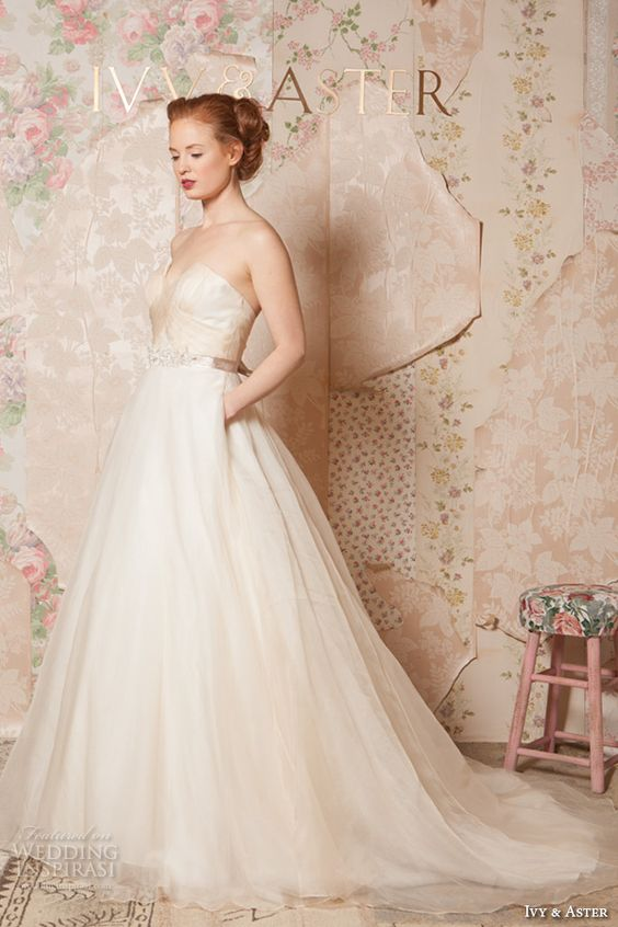 Ivy aster spring 2016 wedding dresses through the for A line wedding dress with pockets