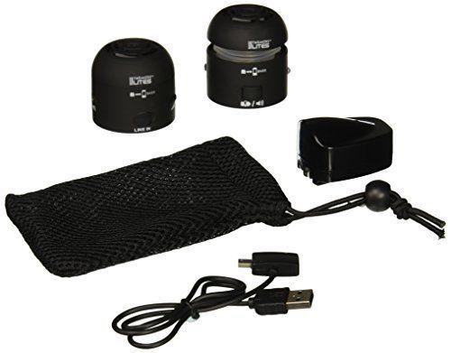 Tweakers SPKRR2LC1BK High Quality Clear Personal Speakers, Black (Set of 2)