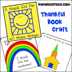 free preschool crafts about being thankful