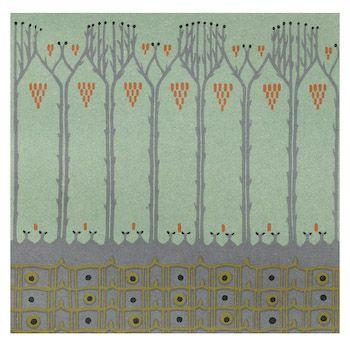 trees art nouveau stitch kit