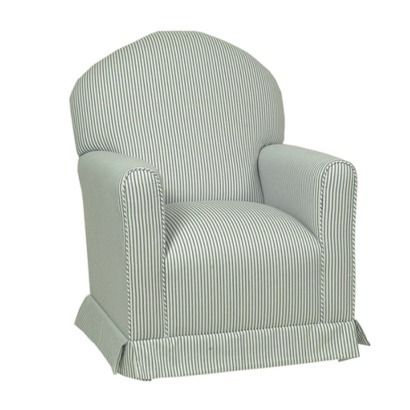 Lullaby Glider Rocker - Blue Stripe. $333 at Target. Matching ottoman is less than one hundred.