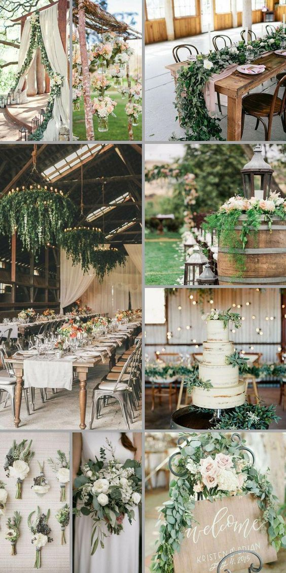 Gold and Ivory wedding centerpieces