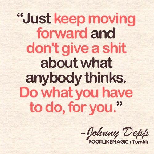 Johnny Depp...he's a smart one.