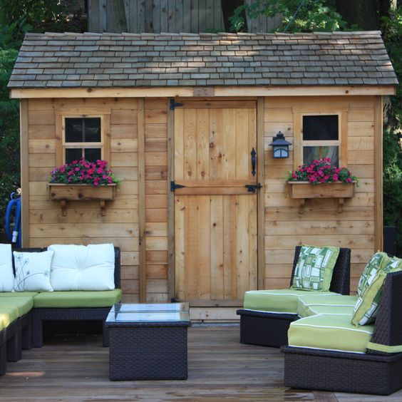 Outdoor Living Today Cabana 12 Ft. W x 8 Ft. D Wood Garden Shed