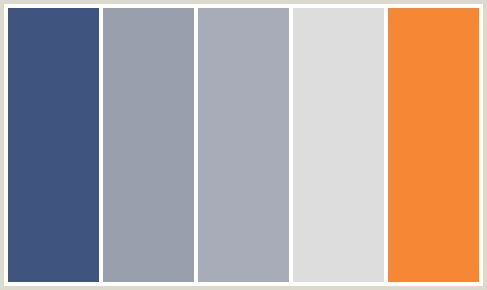 Reason this color scheme fits within that fun w orange - Blue and gray color scheme ...
