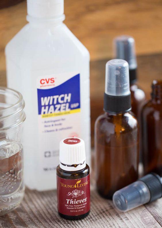 Thieves Spray Witch Hazel And Sprays On Pinterest