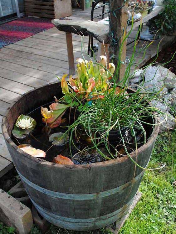 Petit bassin aquatique en récipient à faire soi-même u2013 13 idées - petit jardin japonais interieur