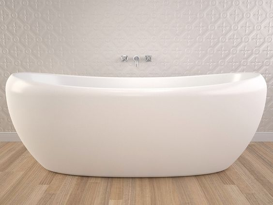 Caroma Pearl 1750 Freestanding Bath For Seb bathroom - Ensuite can only have 1500mm bath, but Seb's longer
