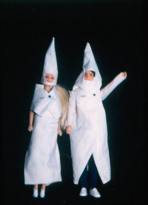 KKK Barbie and Ken dolls. Queen of the Ku Klux Klan, pg. 238 #TravelsWithMyself