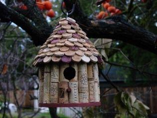 wine corks birdhouse