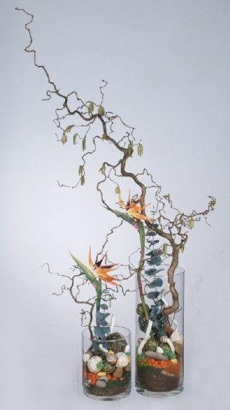 Jesienna Kompozycja ze strelicjami www.kaja.lebork.pl  #fall #centerpiece #arrangement