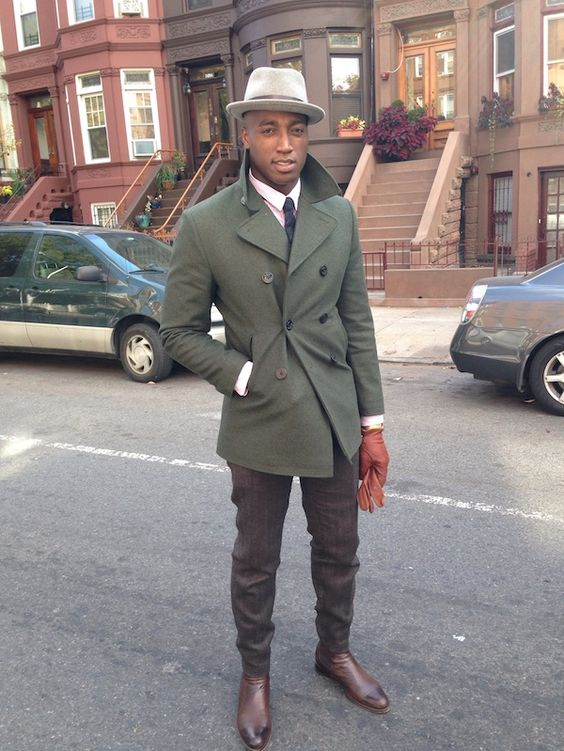 St. Charles Walking Fedora | Green trench coat Style and Young man