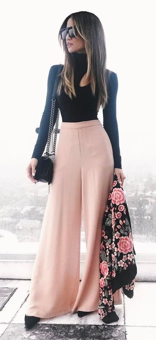 fashion trend inspiration black top + pants