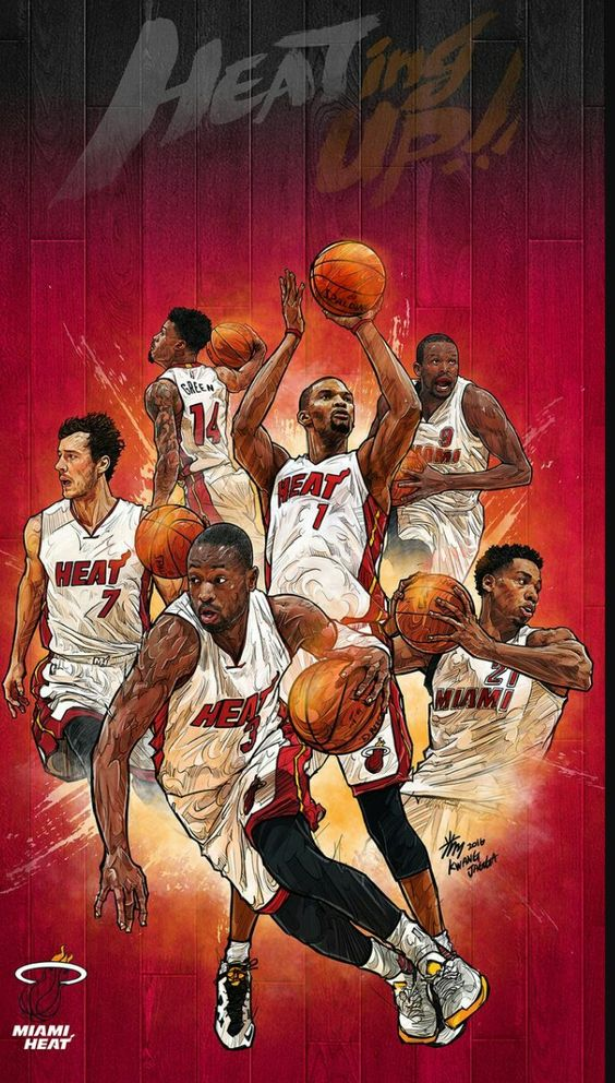 Miami Heat Nba Basketball Art Nba Art Nba Artwork