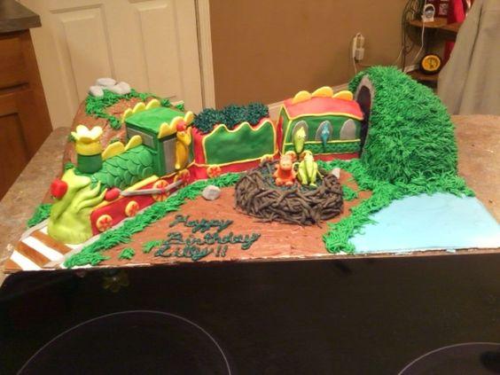 Dinosaur Train Trains And Dinosaur Train Cakes On Pinterest