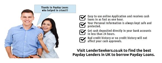 If you are looking to borrow instant payday loans and you are in need of best payday lenders in the UK, then rush today to LenderSeekers which has a list of the best payday lenders in UK.