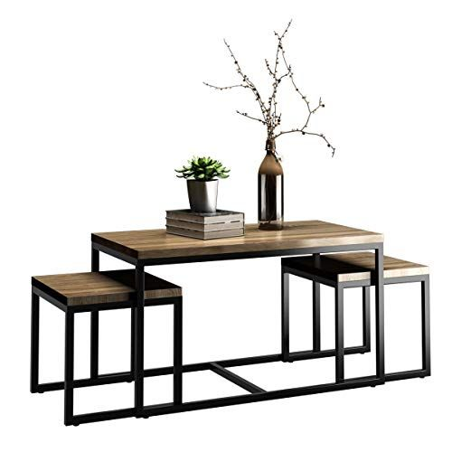 Living Room Coffee Table Sets Benefits Giantex 3 Piece Nesting