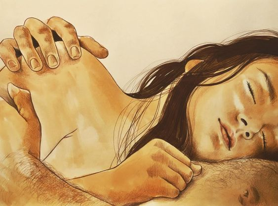 Female Artist Illustrated Intimate Scenes Of Love Making Couples