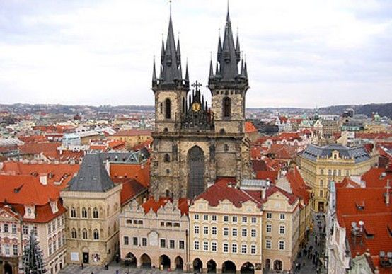 """Austere Elegance - """"We are reveling in the mysterious energy of Prague, captivated by its rich history and architecture.""""  www.bcbg.com/..."""
