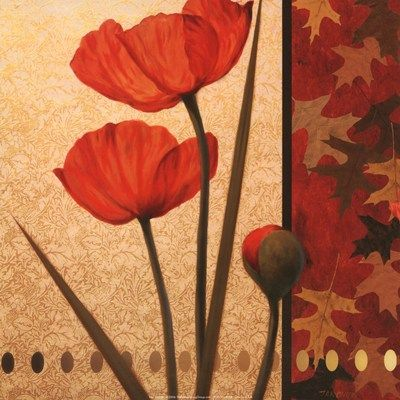 ❤ =^..^= ❤   Poppy Red Damasque | Tan Chun