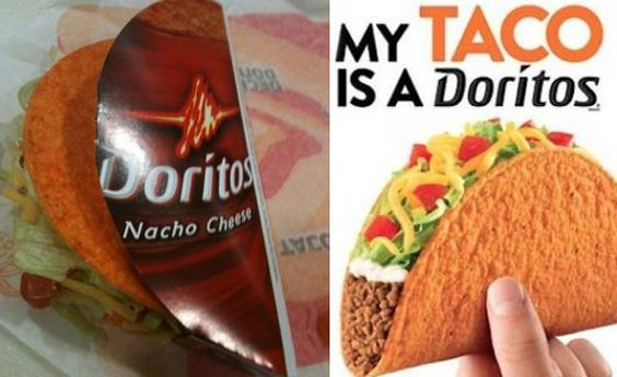 dorito taco bell shells. few things in life have made me this happy.