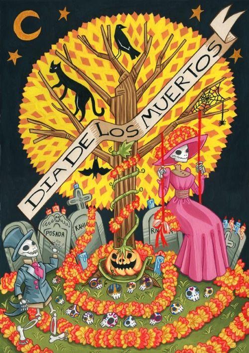 dia de los muertos art: